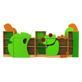 Children's Novelty Frog Themed Library Bookcases - Complete Set