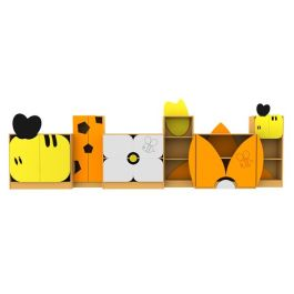 Children's Novelty Honey Bee Bookcases Complete Library Set
