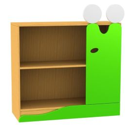 Children's Novelty Bookcase Slug with Doors