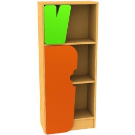 Children's Novelty Bookcase Tree Snail with Carrot Door