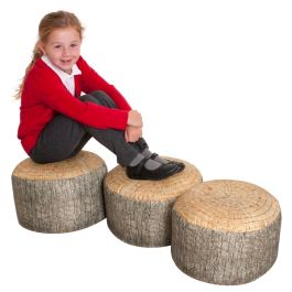 Learn about Nature Small Tree Stump Stools - Pack of 3