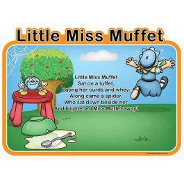 Children's Little Miss Muffet Outdoor Picture Board