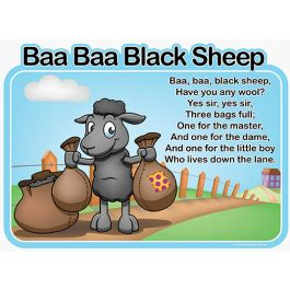 Children's Baa Baa Black Sheep Outdoor Picture Board
