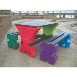 Junior Jigsaw Outdoor Table Set