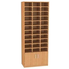 33 Pigeon Hole Unit with Cupboard