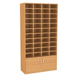 44 Pigeon Hole Unit with Cupboard