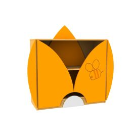Children's Novelty Honey Bee Bookcase with Petal Doors