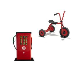 Winther Mini Viking Tricycle and Children's Play Petrol Station Stand Bundle Deal