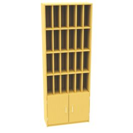 24 Pigeon Hole Unit with Cupboard