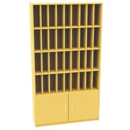 36 Pigeon Hole Unit with Cupboard