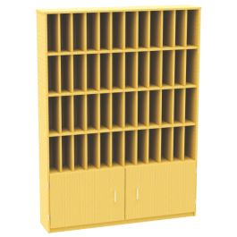 48 Pigeon Hole Unit with Cupboard