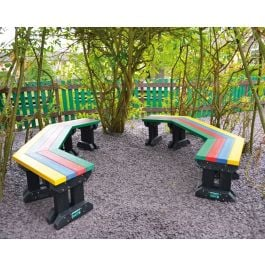 Prism Angled Junior Recycled Plastic Outdoor Bench