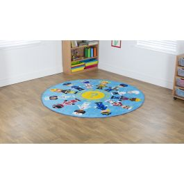 Early Years Professions Circular Carpet