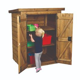 Small Outdoor Lockable Wooden Storage Shed