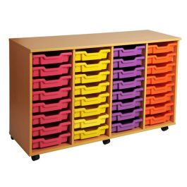 Quadruple Column 32 Tray Storage Unit