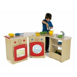 Millhouse Roll Unfold Role Play Wooden Kitchen - Large