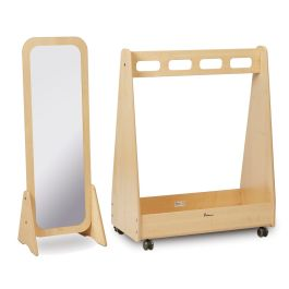Basic Dressing Up Trolley and Free Standing Mirror Bundle Deal