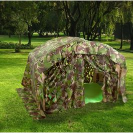 Indoor and Outdoor Folding Den with Camouflage Den Kit - Special Offer
