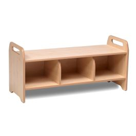 Early Years Large Wooden Cloakroom Storage Bench