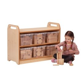 Early Years Tall Block Play Storage Unit - With Blocks