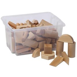 Early Years Multi-shape Wooden Construction Blocks Set