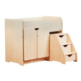 Wooden Baby Changing Unit with Steps