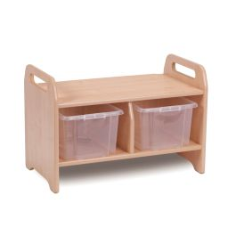 Early Years Small Wooden Cloakroom Storage Bench