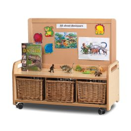 Early Years Low Display Storage Unit without Castors