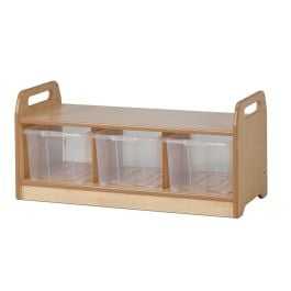 Early Years Wooden Low Level Storage Bench