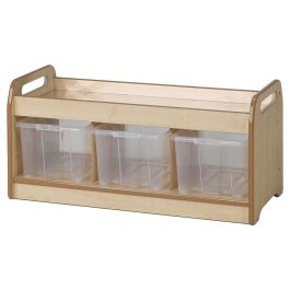 PlayScapes Wooden Low Mirror Play Table and Storage Unit