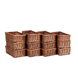 Early Years Small Wicker Storage Baskets - Set of 12
