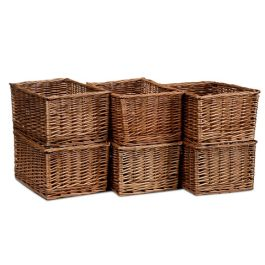 Early Years Large Wicker Storage Baskets - Set of 6