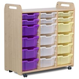 Playscapes Tray Storage Unit - 3 Columns with 6 Shallow and 12 Deep Trays