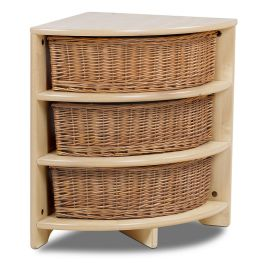 Playscapes™ Quad Corner Tray Unit with Wicker Baskets
