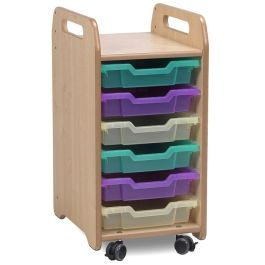 Playscapes Tray Storage Unit - 1 Column with 6 Shallow Trays