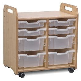 Playscapes Tray Storage Unit - 2 Column - 4 Shallow and 4 Deep Trays