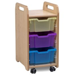 Playscapes Tray Storage Unit - 1 Column with 3 Deep Trays