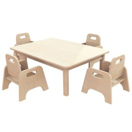 Early Years Rectangular Table and 4 Sturdy Chairs - Bundle Deal