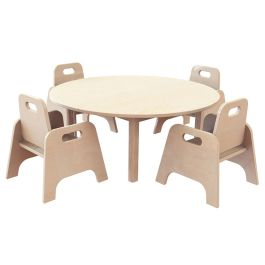Early Years Circular Table and 4 Sturdy Chairs - Bundle Deal