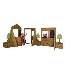 Children's Wooden Outdoor Town Play Set