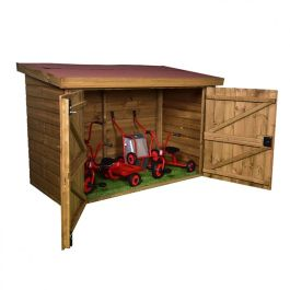 Wooden Trike Storage Shed