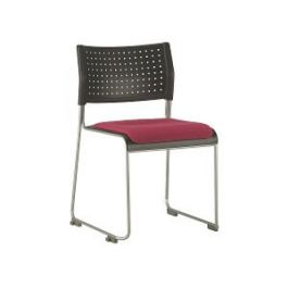 High Density Stacking Chair with Seat Pad - Public