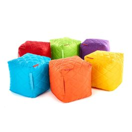 Quilted Bean Bag Cubes - Set of 6