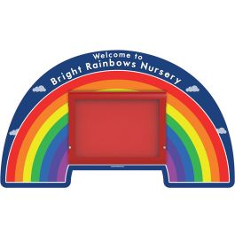 WeatherShield Outdoor Wall Mounted Rainbow Welcome Sign