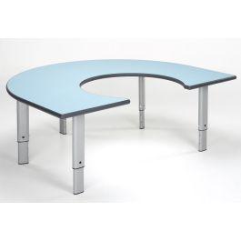 Metalliform Rainbow Horseshoe Height Adjustable Classroom Table