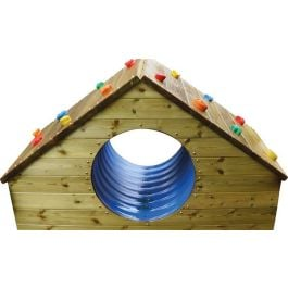 Outdoor Wooden Adventure Tunnel