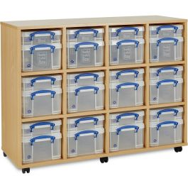 Monarch Really Useful 12 x 4L and 12 x 9L Classroom Storage Unit