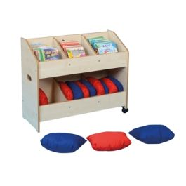 Children's Mobile Book Organiser with Cushions
