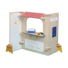 Role Play Supermarket Stall Play Panels - Maple
