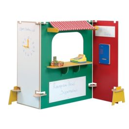 Role Play Supermarket Stall Play Panels - Multi Coloured